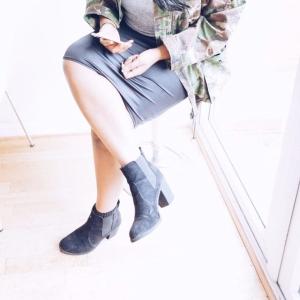 Topshop Suede Black Boots